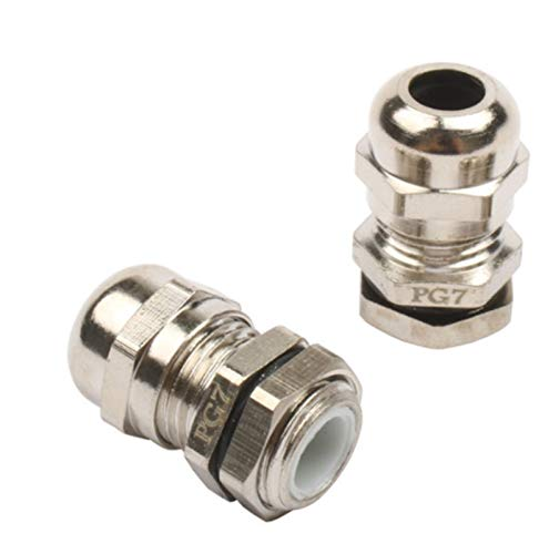 BJKKM Prensaestopas Impermeables 1pc 2pcs 3pcs pg7 3.0-6.5mm Cable de conexión Impermeable Glándula Aplicación fácil (Size : 2 Pcs)