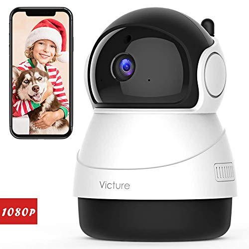 Victure 1080P Baby Monitor with WiFi Camera FHD Indoor Wireless Surveillance Security IP Camera with Motion Detection Night Vision 2-Way Audio Cloud Storage for Baby/Elder/Pet Monitor with Camera