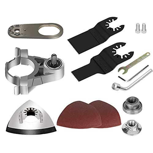 GeKLok Kit adaptador de herramienta oscilante convertidor, práctico adaptador de herramienta oscilante, kit de accesorios multiherramienta oscilante para uso tipo 100 (como se muestra)