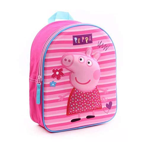 Peppa Pig 30cm 3D Pretty Mochila Tiempo Libre Sportweunisex Infantil  Juventud  Multicolor