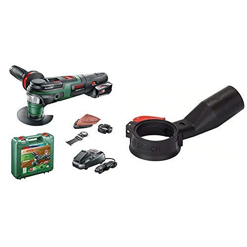 Bosch Akku Multifunktionswerkzeug AdvancedMulti 18 (1 Akku, 18 Volt System, im Koffer) & Professional 2609256D57 Absaug-Adapter in schwarz, grau