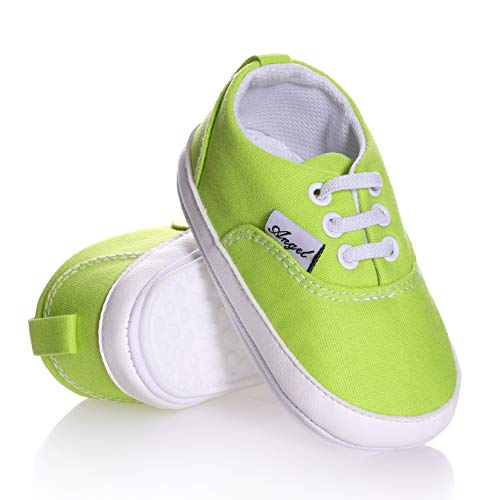 iEvolve Baby Shoes Baby Toddler Soft Sole Prewalker Baby First Walking Shoes Crib Shoes Baby Sandal(Peak Green Sandal, 12-18 Months)
