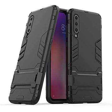 """Max Power Digital Funda para Samsung Galaxy A40 (5.9"""") con Soporte - Carcasa Híbrida Antigolpes Resistente (Xiaomi Mi 9, Negro)"""