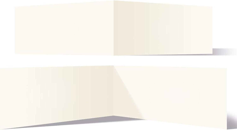 200 Blanko Klappkarten quer DIN Lang 210 x 99 mm Naturpapier 300 g qm Set Papier wählbar B07J52VB73  | Glücklicher Startpunkt