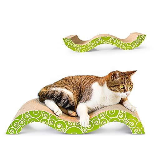 Tuzi Qiuge Katzen-Kratzbrett - M-förmiges Wellpapier, einzigartige Form, angenehmer Bogenwinkel, passen Katzen-Schlafstellendesign.