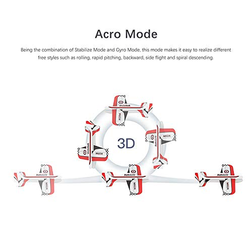 Goolsky Radiolink Byme-A Flugstabilisator Flugregler Gyroskop Selbststabilisierungswaage für RC-Flugzeuge Starrflügel 4CH Trainer 3D-Kunstflugwaage F3P