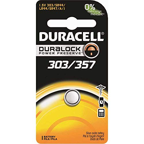 Duracell 1.5V Silver Oxide 303/357 Watch/Electronic Battery - Single Pack