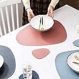 LUOWAN Tischsets 4er Untersetzer Lederoptik Set Platzdeckchen Abwaschbar Premium Pu-Leder Hochwertig Wasserdicht rutschfest Schmutzabweisend Platzmatte Tischunterlagen(4 Tischsets + 4 Untersetzer) - 3
