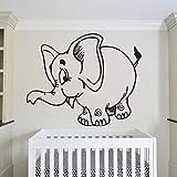 Boho elefante etiqueta de la pared lindo animal dibujos animados etiqueta vinilo etiqueta de la...