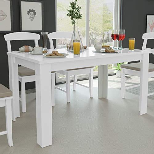 FAMIROSA Tavolo da Pranzo 140x80x75 cm Bianco