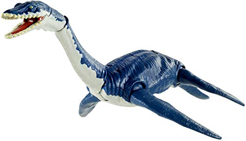 Jurassic World Plesiosaurus Savage Strike Dinosaur Action Figure, Smaller Size, Attack Move Iconic to Species, Movable Arms & Legs, Great Gift for Ages 4 Years Old & Up