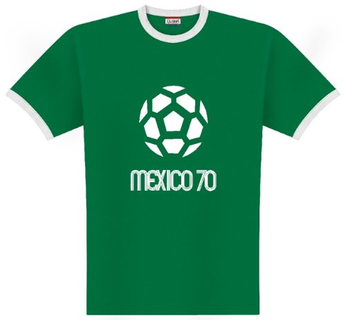 World of Football Ringer T-Shirt Mexico 1970 - XL