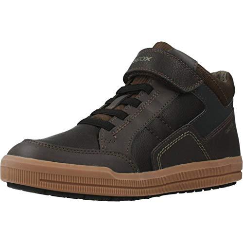 Geox Niños Zapatillas Arzach Boy,Chico Alto,Deportivo,Cordones,Sneaker,Zapatillas,Corte Medio,Mid-Cut,Removable Insole,Brown/Navy,26 EU/8.5 UK Child