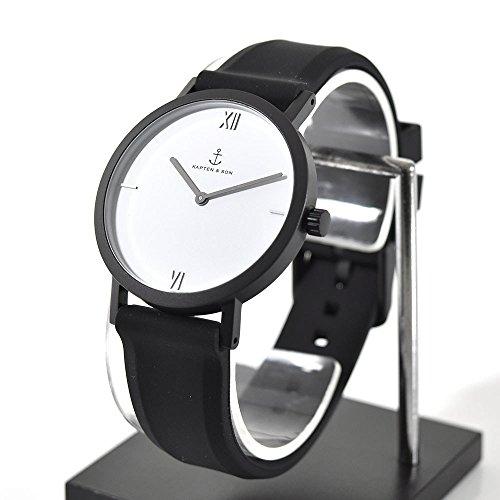 Kapten & Son Uhren Analog Quarz One Size Schwarz/weiß Silikon 32002023