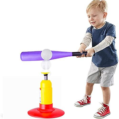 MSLing Juego de Bolas de béisbol para niños pequeños, niños, Entrenamiento, Lanzador de béisbol semiautomático, Bates de béisbol para Entrenamiento al Aire Libre en Interiores