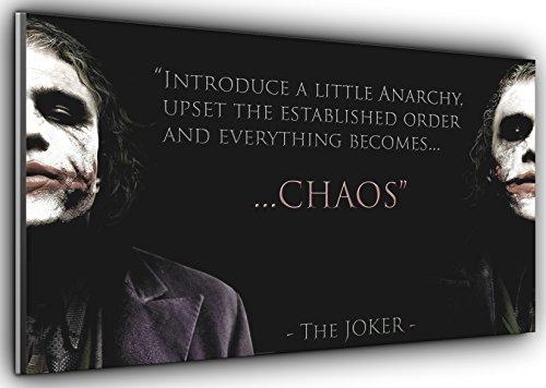 """Kunstdruck auf Leinwand, Motiv """"Joker Chaos Batman Dark Knight"""", Panorama-Leinwandkunst, gerahmt, XXL 139,7 x 61 cm, über 11,4 cm breit x 61 cm hoch, kann sofort aufgehängt Werden."""
