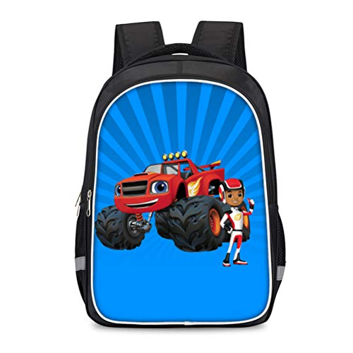 Blaze and The Monster Machines Printed Backpack Suitable for School Boys and Girls Compact and Lightweight School Bag Casual Travel Bag Portable School Daypack Kids