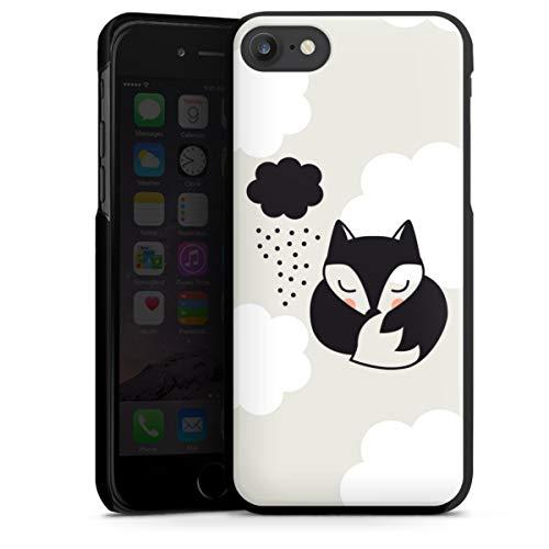 DeinDesign Hard Hülle kompatibel mit Apple iPhone SE (2020) Schutzhülle schwarz Smartphone Backcover Fuchs Wolke