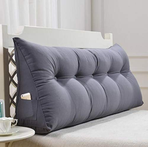 WZF Kissen Rückenkissen Dreieck Sof Kissen Doppelbett Weiche Tasche Bett Großes Kissen Abnehmbares Waschbar Rückenkissen (Farbe: 1#, Maße: 70cm)