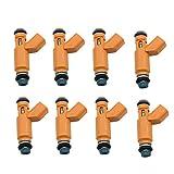 KCSAC 8pc Combustible inyector 2W93-AA 4526563 195500-4280 FIT FOR Jaguar XK8 4.2L 2003-2006 S-Type 4.2L 2003-2005 XJ8 4.2L 2004-2005 Vanden PLAS 4.2L 04~05 Inyección de Combustible