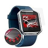 atFoliX Schutzfolie kompatibel mit Fitbit Blaze Folie, entspiegelnde & Flexible FX Bildschirmschutzfolie (3X)