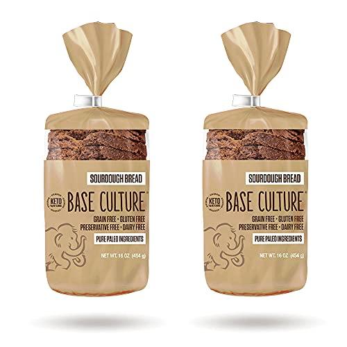 Keto Bread | Sourdough 100% Paleo, Gluten Free, Grain Free, Non-GMO, Dairy Free, Soy Free and Kosher | 16oz Loaf (2 Count)