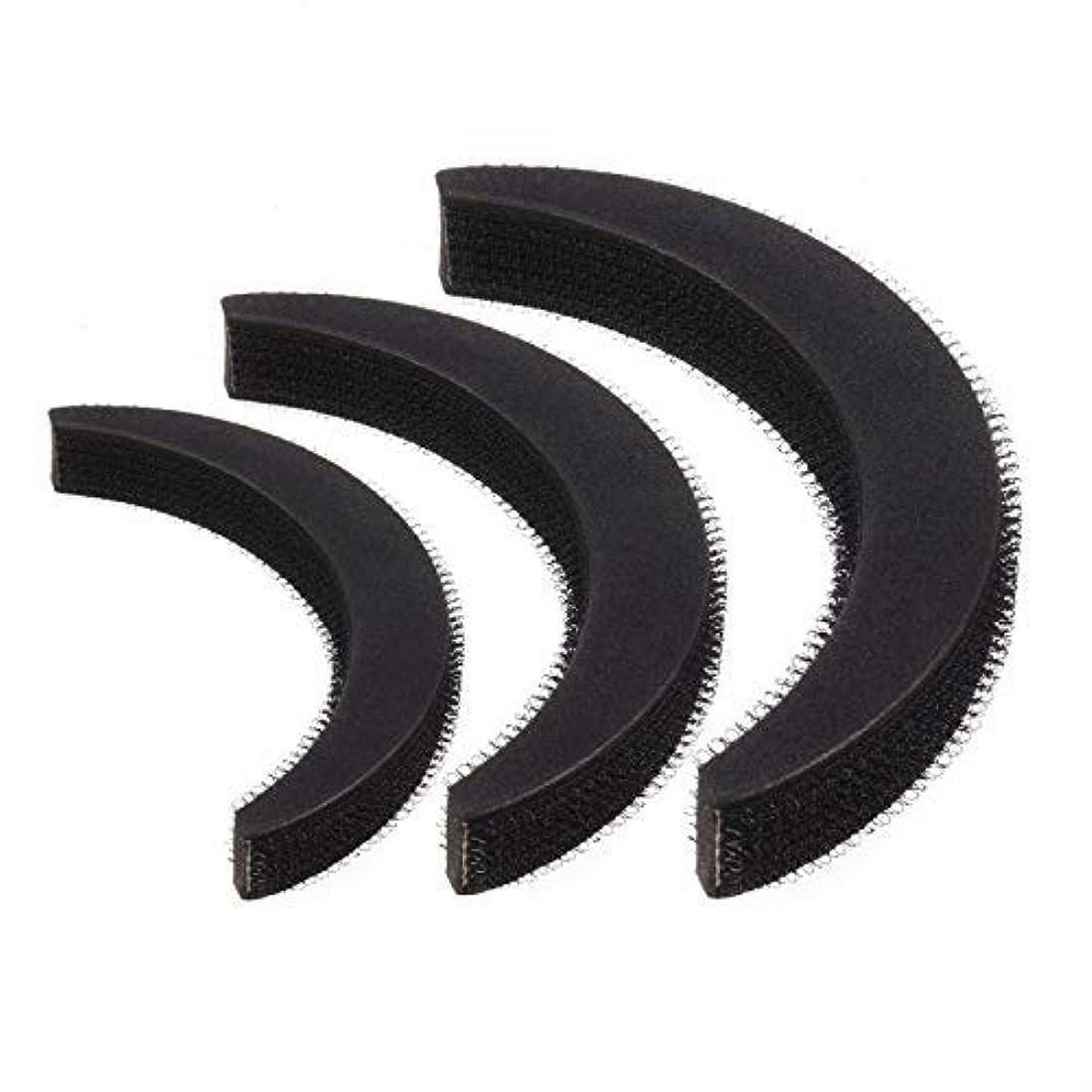 罰するワークショップクラフトFeeko Hair Bump,3psc Hair Bumpit Roll Honeycomb Hair Bump Hair Pad Haight Hairdressing Set Tool Black [並行輸入品]