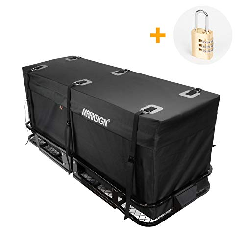MARKSIGN 100% Waterproof Hitch Carrier Cargo Bag 59'' x 24'' x 24''...