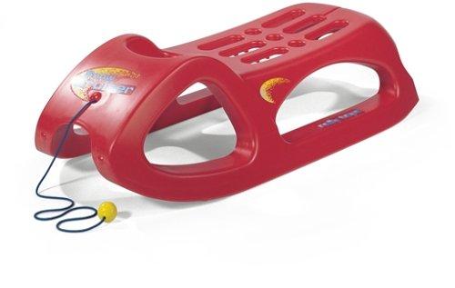 RollyToys rollySnow Cruiser (Farbe rot, Kufen mit Stahlschienen, mit Zugschnur, ab 3 Jahre) 200122