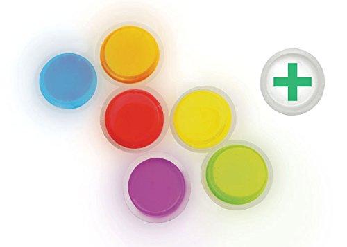Cyalume LightShape Leuchtmarkierer ringförmig in Grün (100-er Pack) – Leuchtdauer 4h – selbstklebender Leuchtmarkierer mit 8cm Durchmesser – per Druck aktiviert – für Evakuierungen, Triage, Markierungen - 3