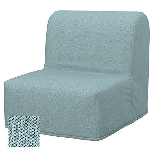 Soferia Bezug fur IKEA LYCKSELE Sessel Bezug, Stoff Nordic Sea Green
