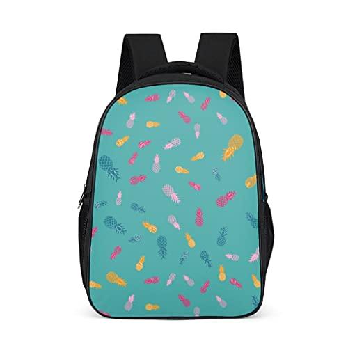 Hinfunees Zaino colorato a forma di ananas, borsa per libri, pratico zaino per la scuola, per ragazzi e campeggi, Grigio acceso., Taglia unica