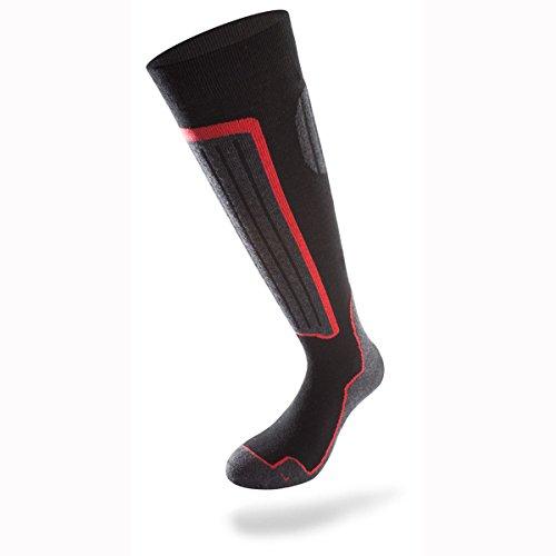 Lenz 1.0 Skiing Chaussettes Noir/Gris/Rouge 35-38