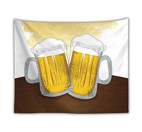 rkmaster Tapijt/Achtergrond Doek Wand/Strand Handdoek/Portemonnee/Picknick Mat Thuis Feest Bier voor Slaapkamer Slaapzaal Woondecoratie