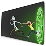 Large Mouse Pad for Rick - Morty with Stitched Edges Gaming Mouse Mat Non-Slip Rubber Base Mousepad for Laptop,Computer,PC,Keyboard,11.8'x23.6'