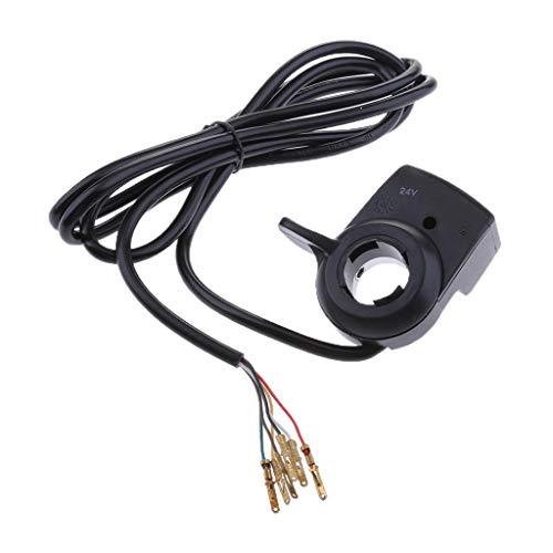 B Blesiya Vélo Électrique E-Bike Accélérateur Twist Contrôle du Pouce 3 LED Indicateur