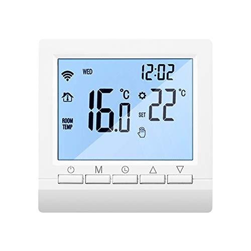 Frondent Decdeal Termostato Wi-Fi per Caldaia a Gas,Cronotermostato domestico,Termostato Digitale,Programmabile Display LCD Touchscreen,Controllo tramite APP mobile