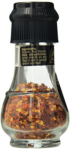 Drogheria & Alimentari All Natural Spice Grinder Red Pepper, 0.71 Ounce (Pack of 6)
