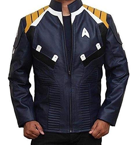 Star Trek Beyond Captain Kirk Chris Pine Veste en cuir pour garçon Bleu - Bleu - X-Large