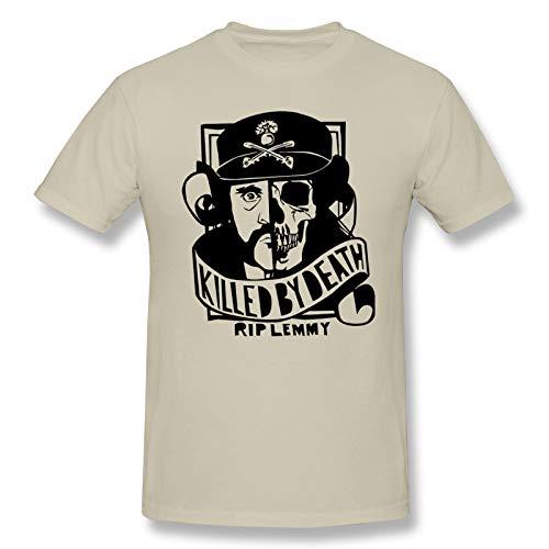 Motorhead Band Men's Basic Short Sleeve T-Shirt Fashion Printed Casual Short Sleeve Cotton Natural 3XL