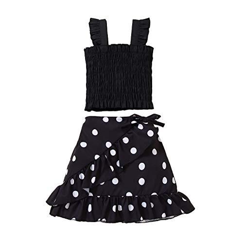 Conjunto de 2 faldas sin mangas para bebé niña + falda con volantes