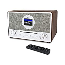 "Ocean Digital WR-880N Internet Radio Dimmable 2.8"" Color Display Wireless Wi-Fi & Bluetooth CD SD/TF Card UPnP DLNA Player Programmable Sleep Timer & Alarm Clock (Black)"