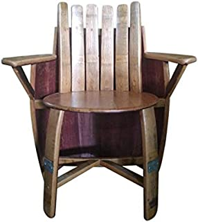 Wine Barrel Chair with Arm and Back Rest 35