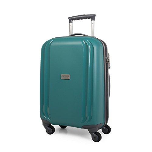 ITACA - Maleta de Viaje Rígida Grande XL 4 Ruedas Trolley 77 cm de Polipropileno Texturizado. Resistente y Ligera. Gran Capacidad. Mango, 2 Asas. Candado TSA. I80070, Color Verde