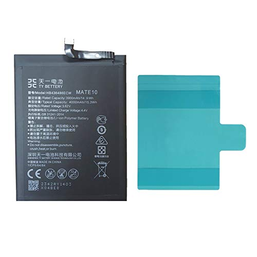[TY BETTERY] Bateria Compatible con HB436486ECW Huawei Mate 10/Mate 10 Pro/Mate 10 LITE/P20 Pro/Mate 20