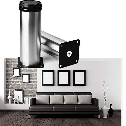 Schrank Beine Küche Füße Arbeitsplatte / Einheit / Frühstück Bar / Schreibtisch Tischbeine Möbel Beine - Chrom Metall - Höhenverstellbar (Gesamt: 120mm)