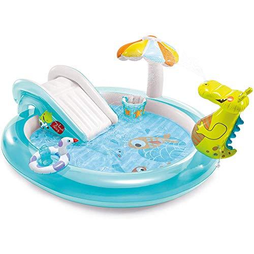 MROSW Große Aufblasbarer Swimmingpool Für Familien-Gebrauch, Krokodil-Brunnen Für Kinder Über 2 Jahre Alt