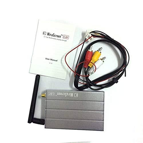 Aluminiumlegierung Shell Car Multimedia Display-Dongle 1080P WIFI Spiegel Box Airplay Miracast GPS DLNA für Android (Farbe: grau)
