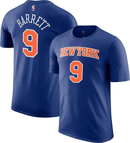 Outerstuff NBA Youth Performance Game Time Team Color Player Name and Number Jersey T-Shirt (RJ Barrett New York Knicks Blue, X-Large 18/20)