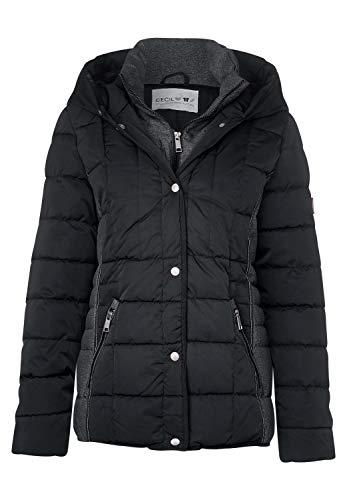 CECIL Damen 201367 Jacke, Mehrfarbig (Black 10001), Small (Herstellergröße:S)